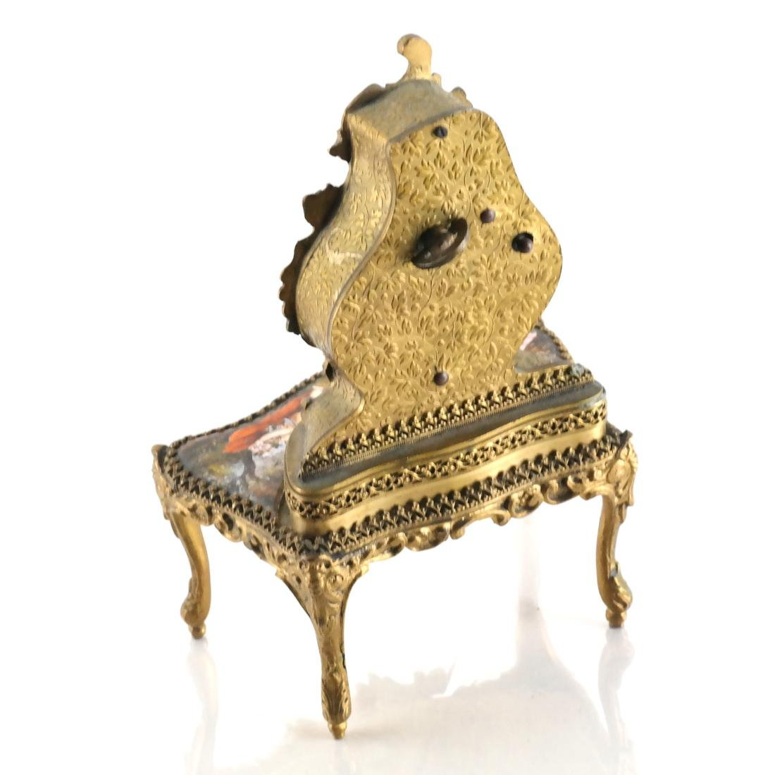 Viennese Enamel Desk-Form Music Box - 4