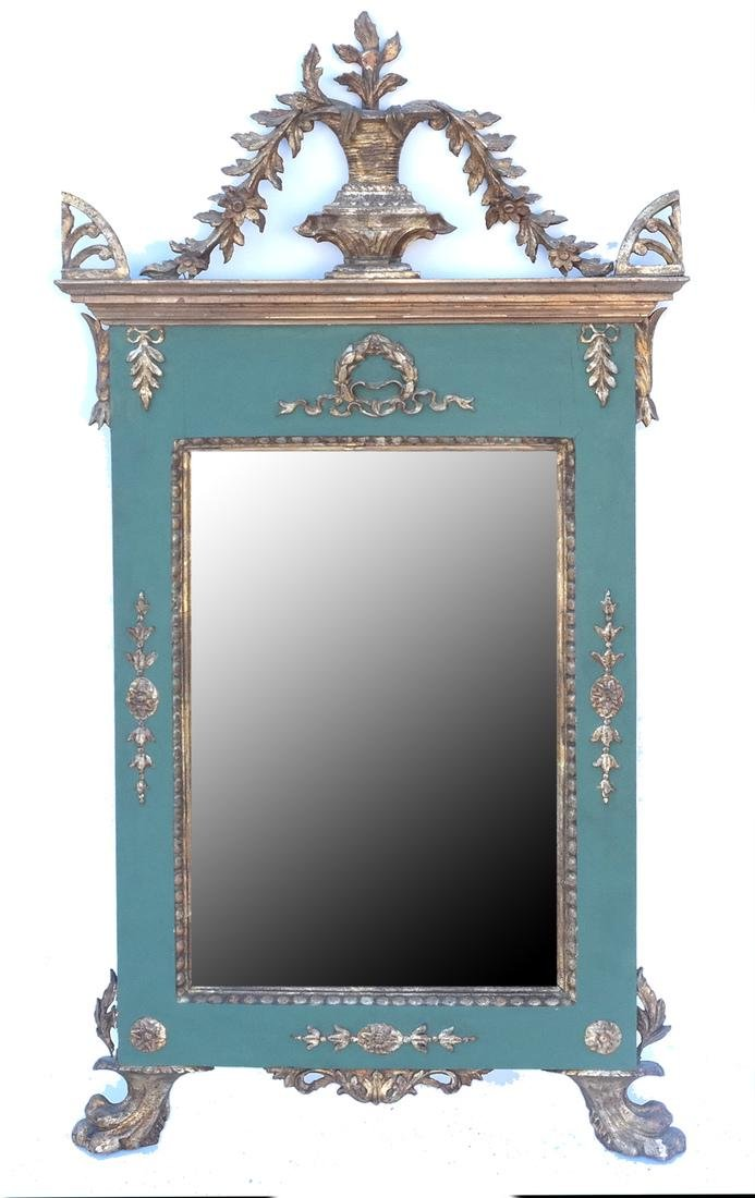 Antique Continental Painted Mirror