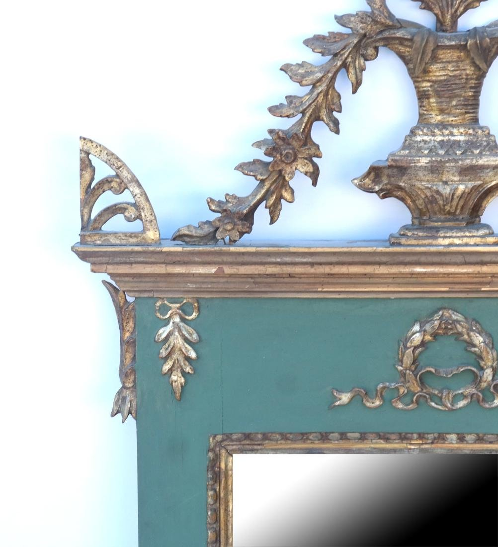 Antique Continental Painted Mirror - 2