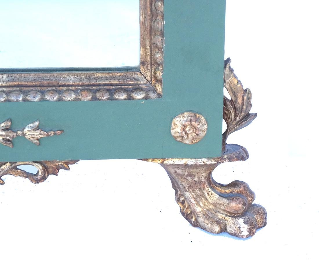 Antique Continental Painted Mirror - 4