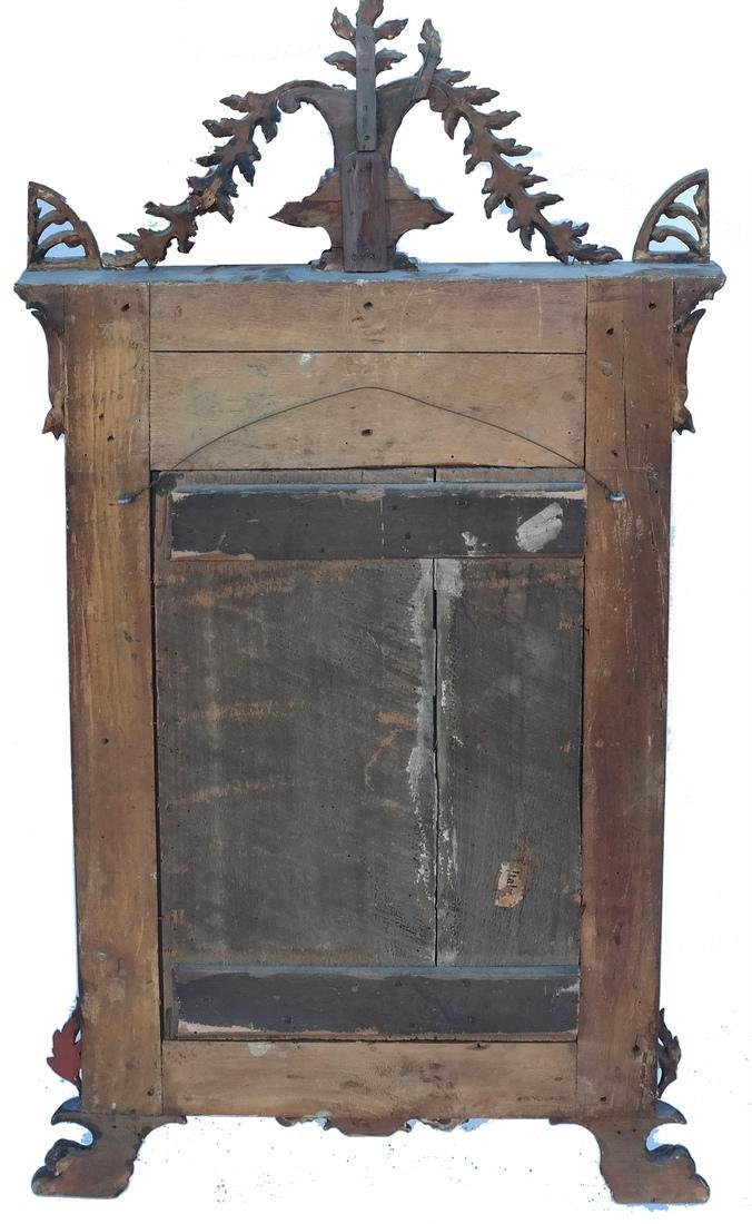 Antique Continental Painted Mirror - 5