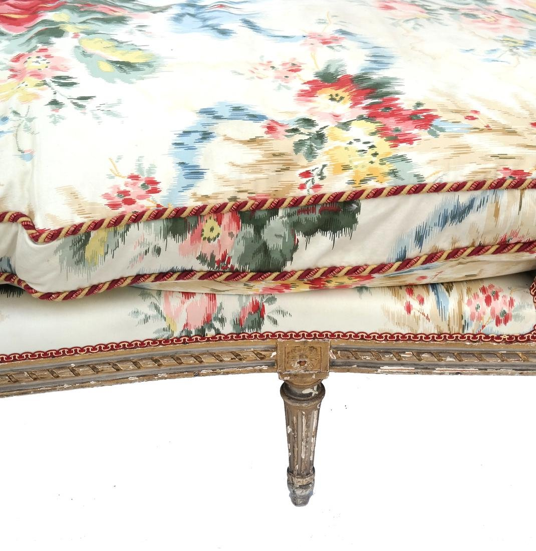 Antique French Painted Chaise Lounge - 2