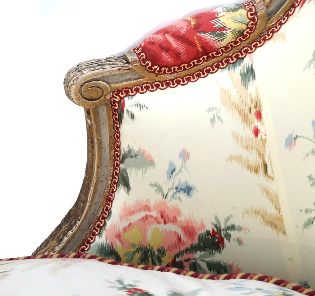 Antique French Painted Chaise Lounge - 3