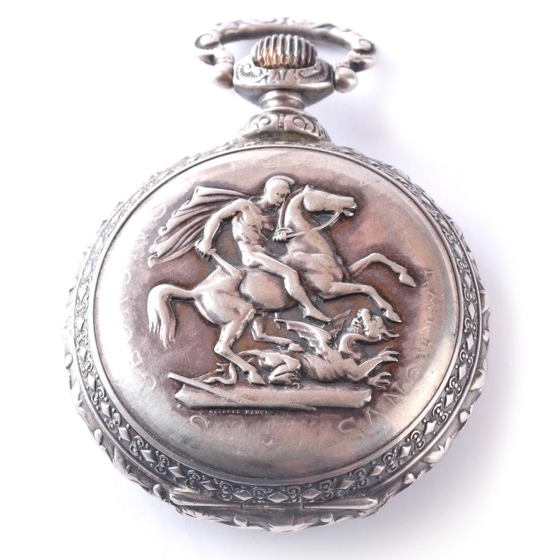 .800 Silver Pocket Watch - 10