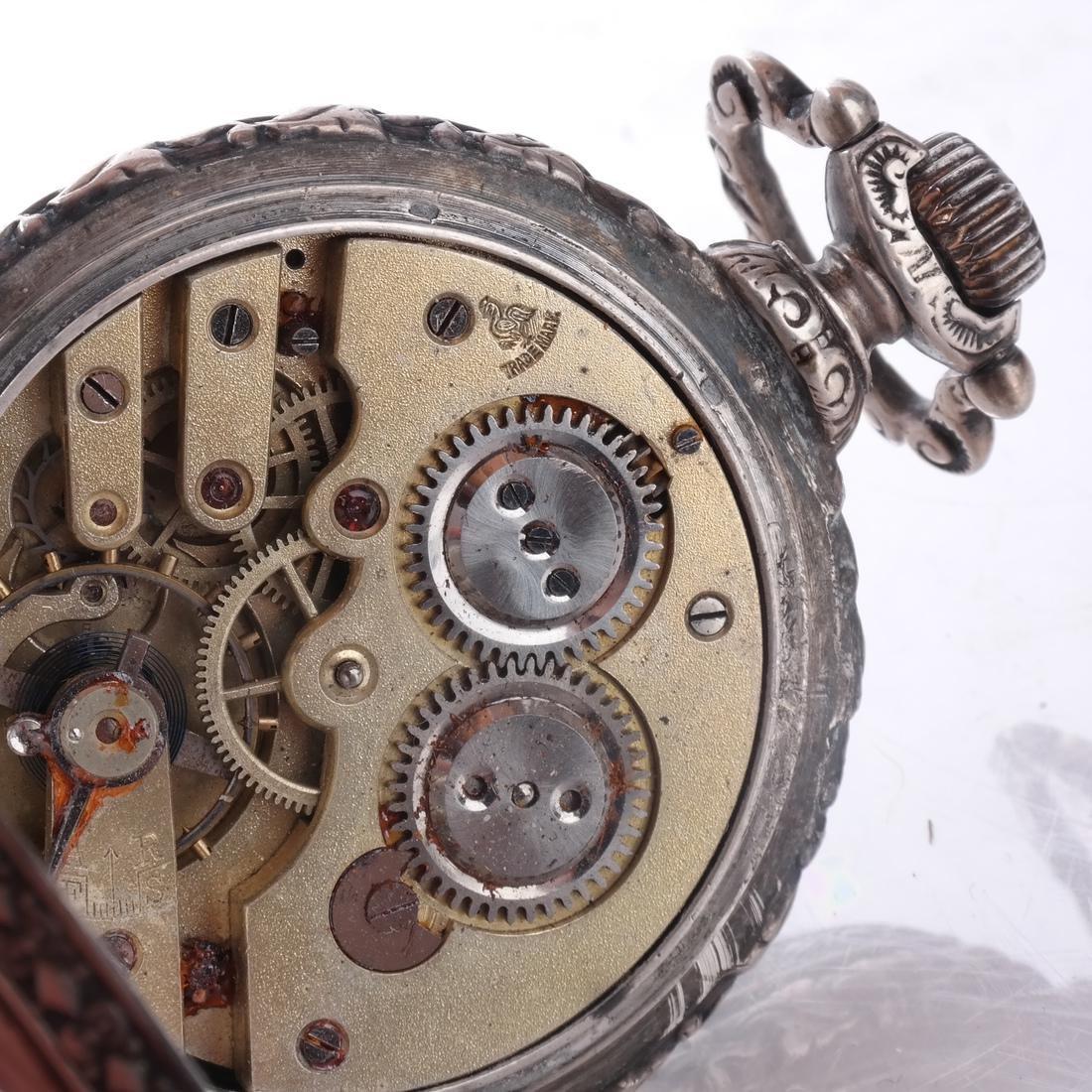 .800 Silver Pocket Watch - 6