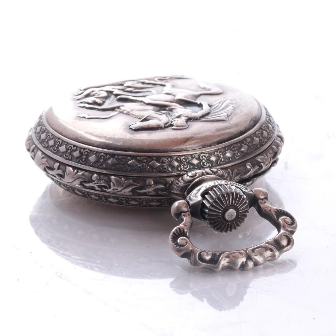 .800 Silver Pocket Watch - 8