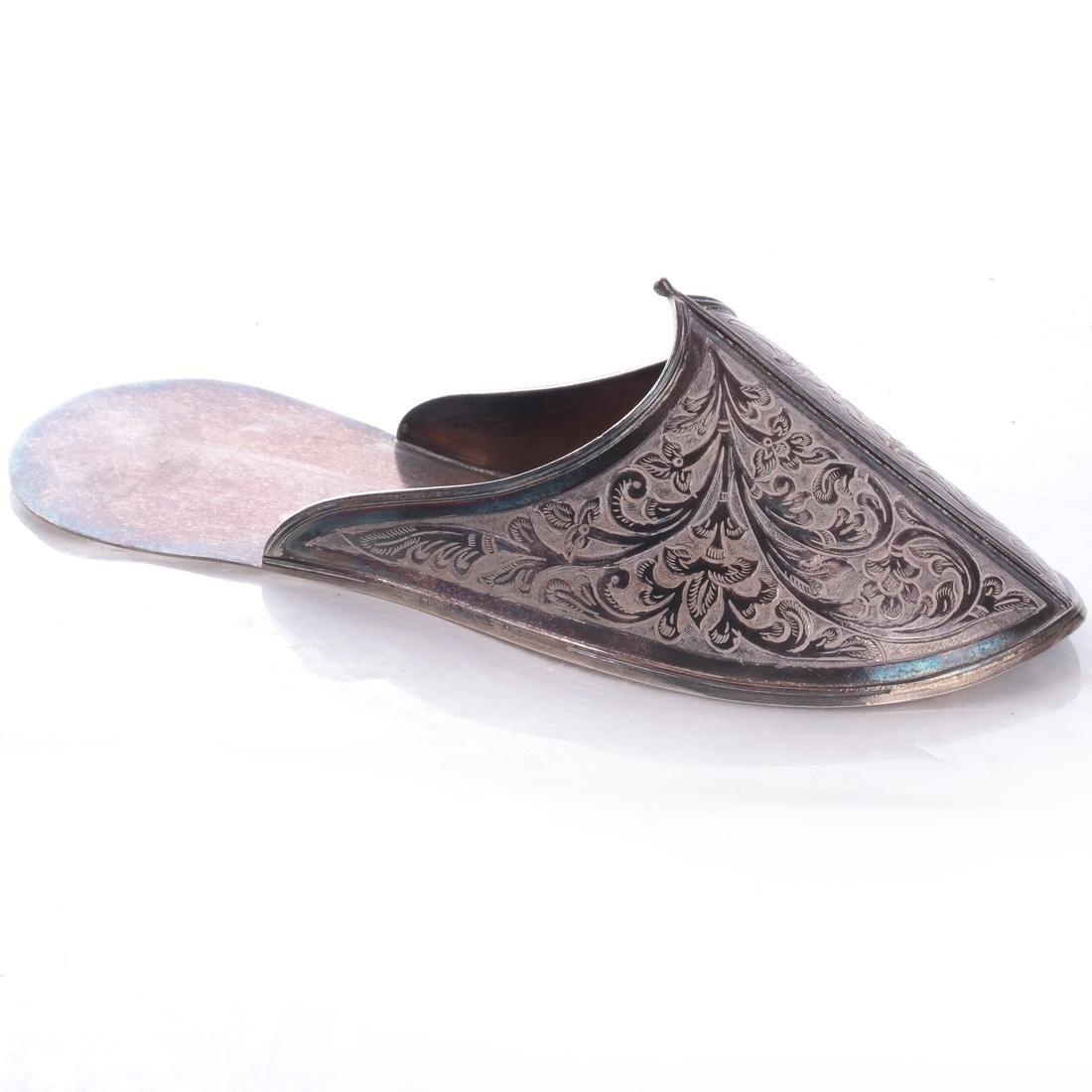 Ottoman: .925 Sterling Silver Persian/Ottoman Shoe - 3
