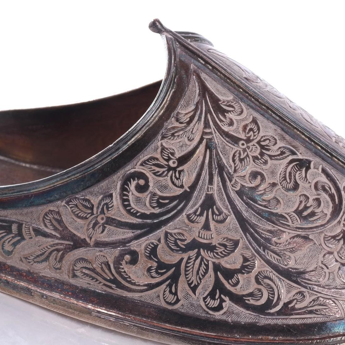 Ottoman: .925 Sterling Silver Persian/Ottoman Shoe - 4