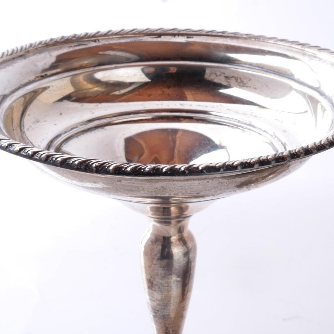 Weighted Silver Plate Trumpet Vase, Coupe - 4