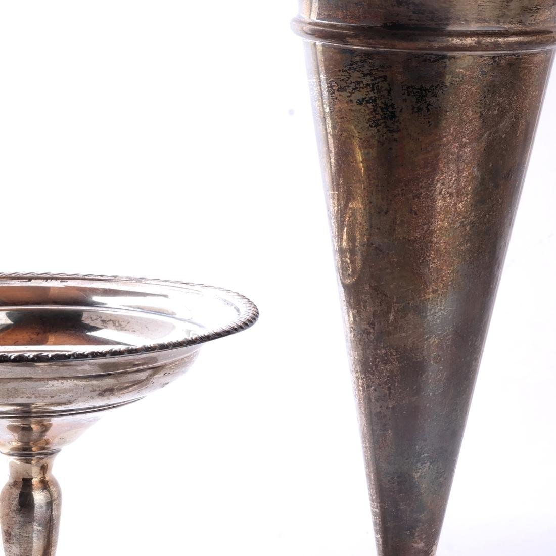 Weighted Silver Plate Trumpet Vase, Coupe - 6