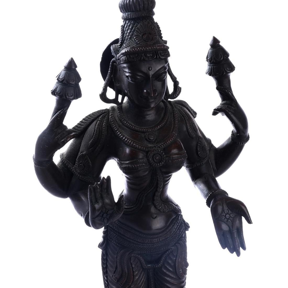 Hindu Indian Bronze Figural Sculpture - 2