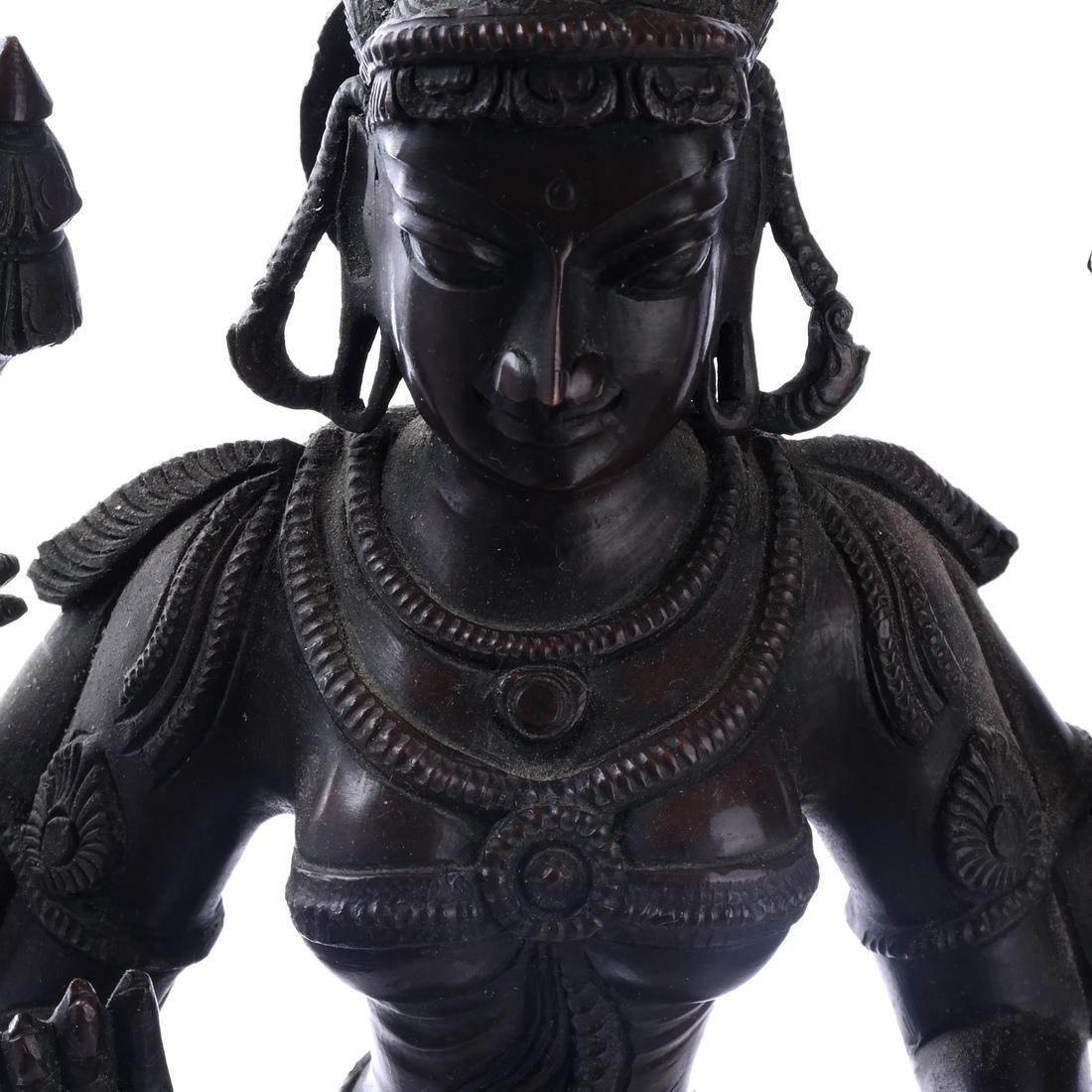 Hindu Indian Bronze Figural Sculpture - 4