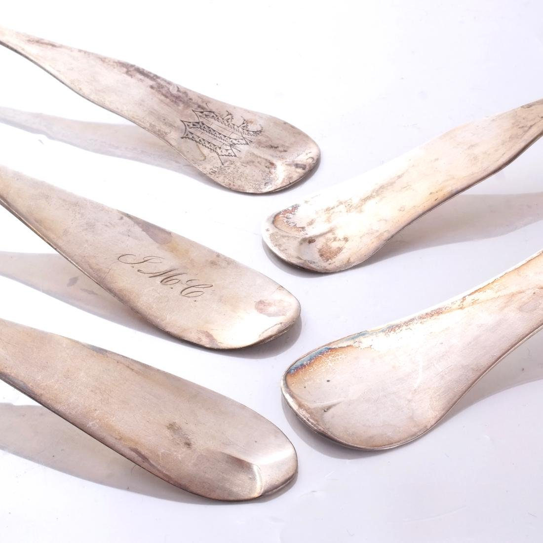 Five American Coin Silver Spoons - 2