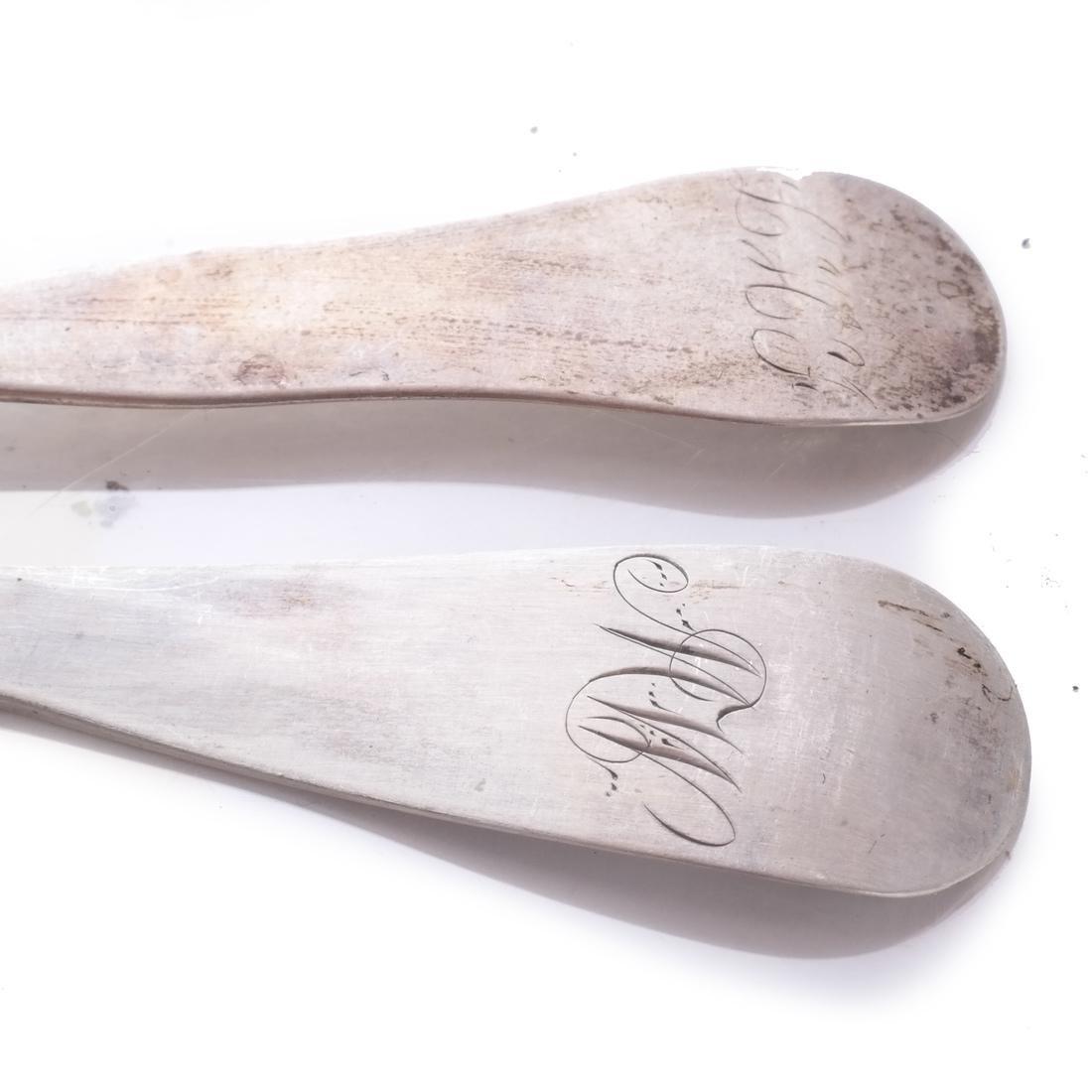 7 Boston Coin Silver Spoons - 4