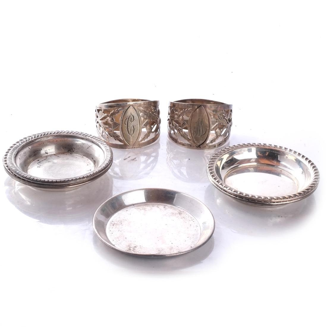 14 Sterling Silver Items: Spoons, Ashtrays, +