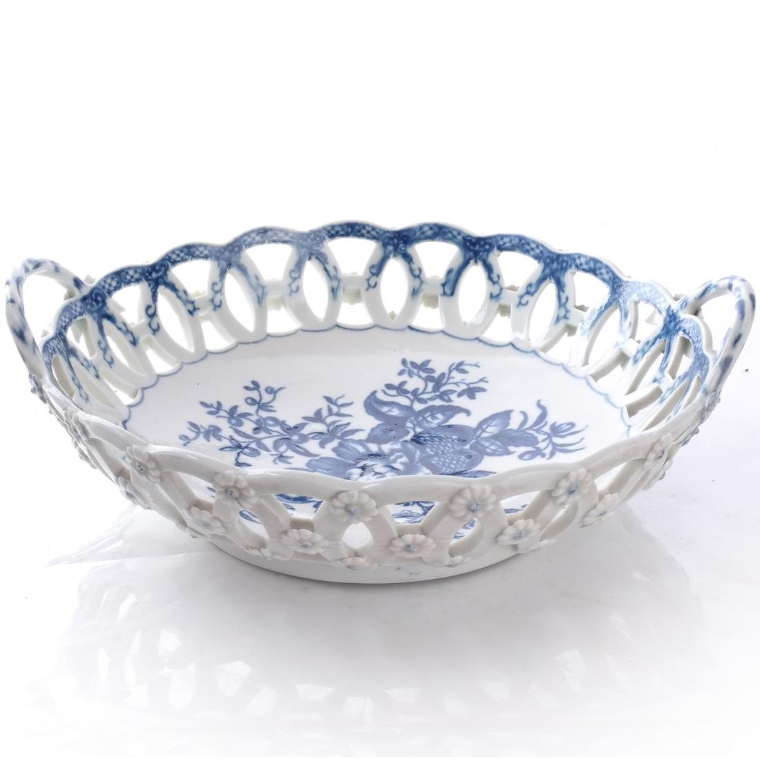 18th C. English Porcelain Basket