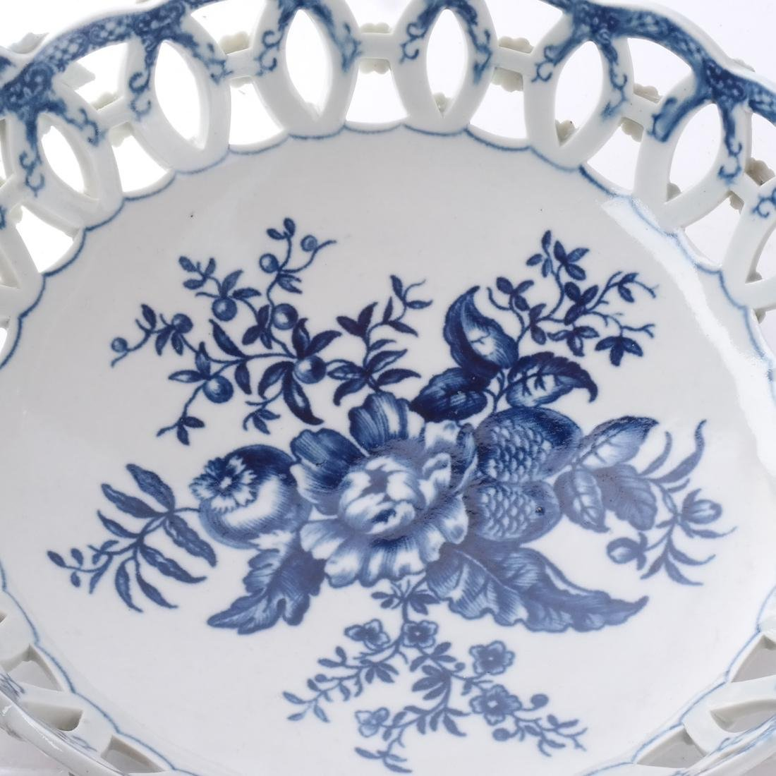 18th C. English Porcelain Basket - 2