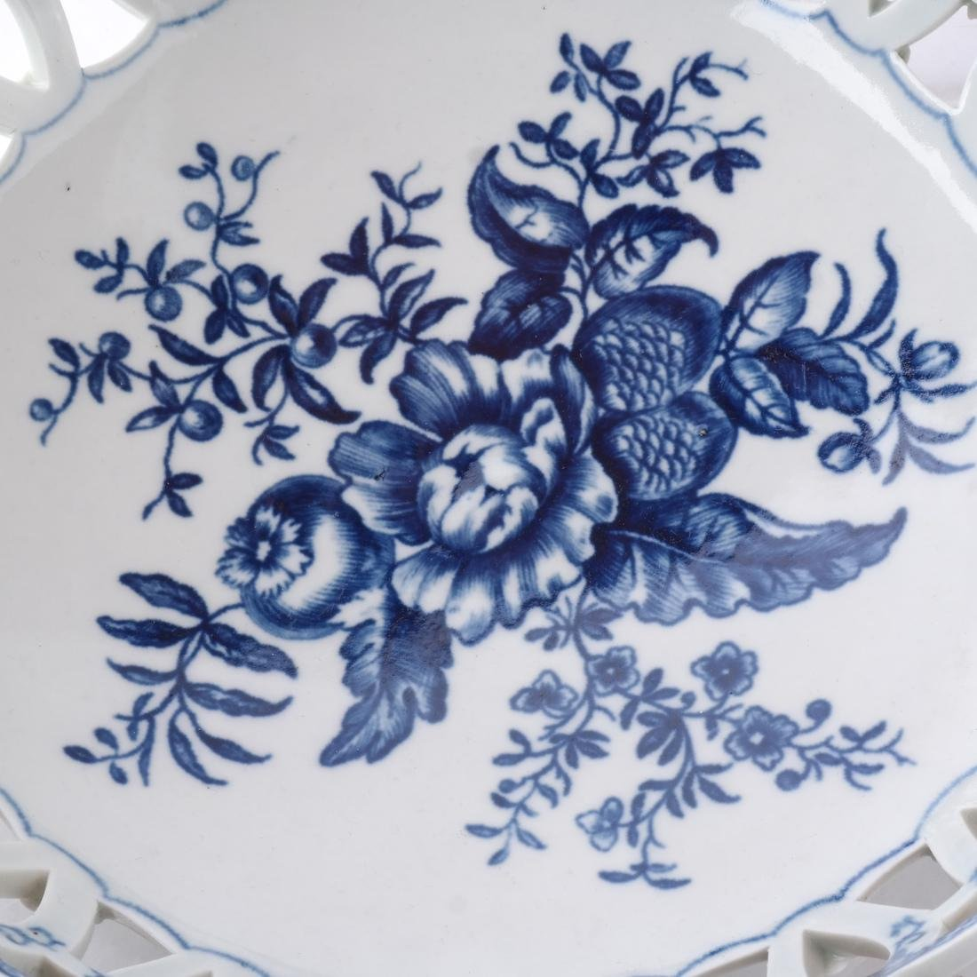 18th C. English Porcelain Basket - 3
