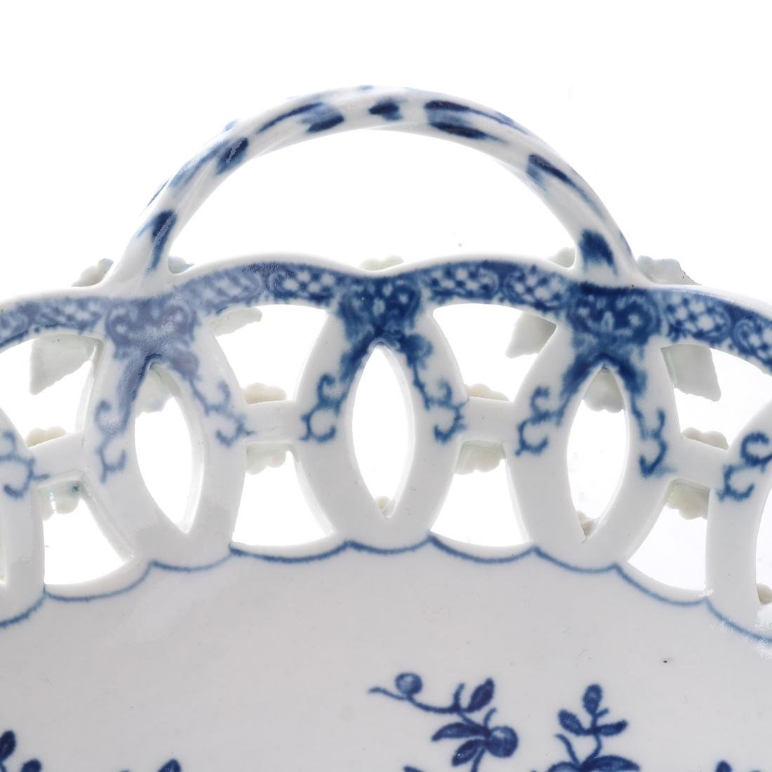 18th C. English Porcelain Basket - 4