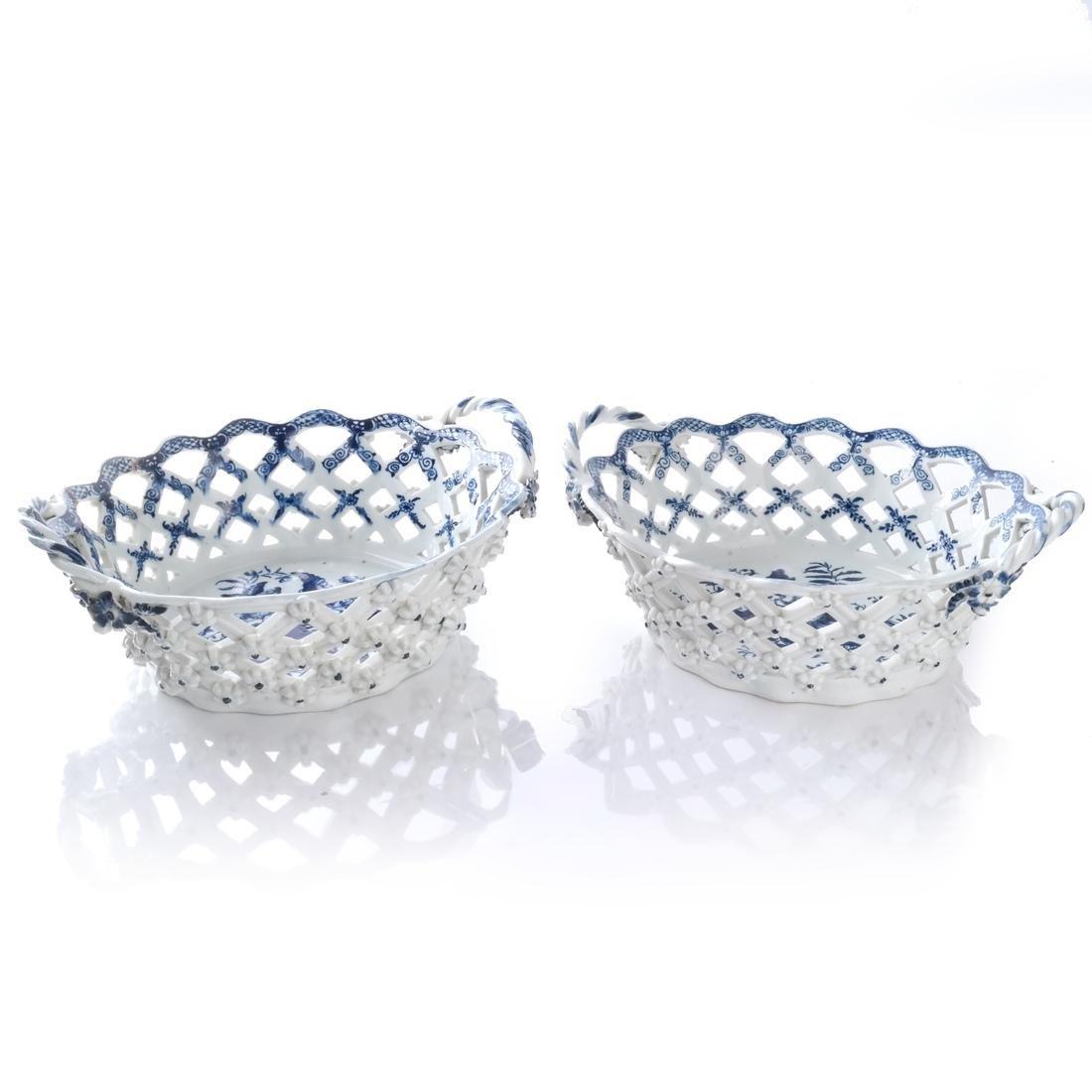 Two 18th C. English Porcelain Baskets