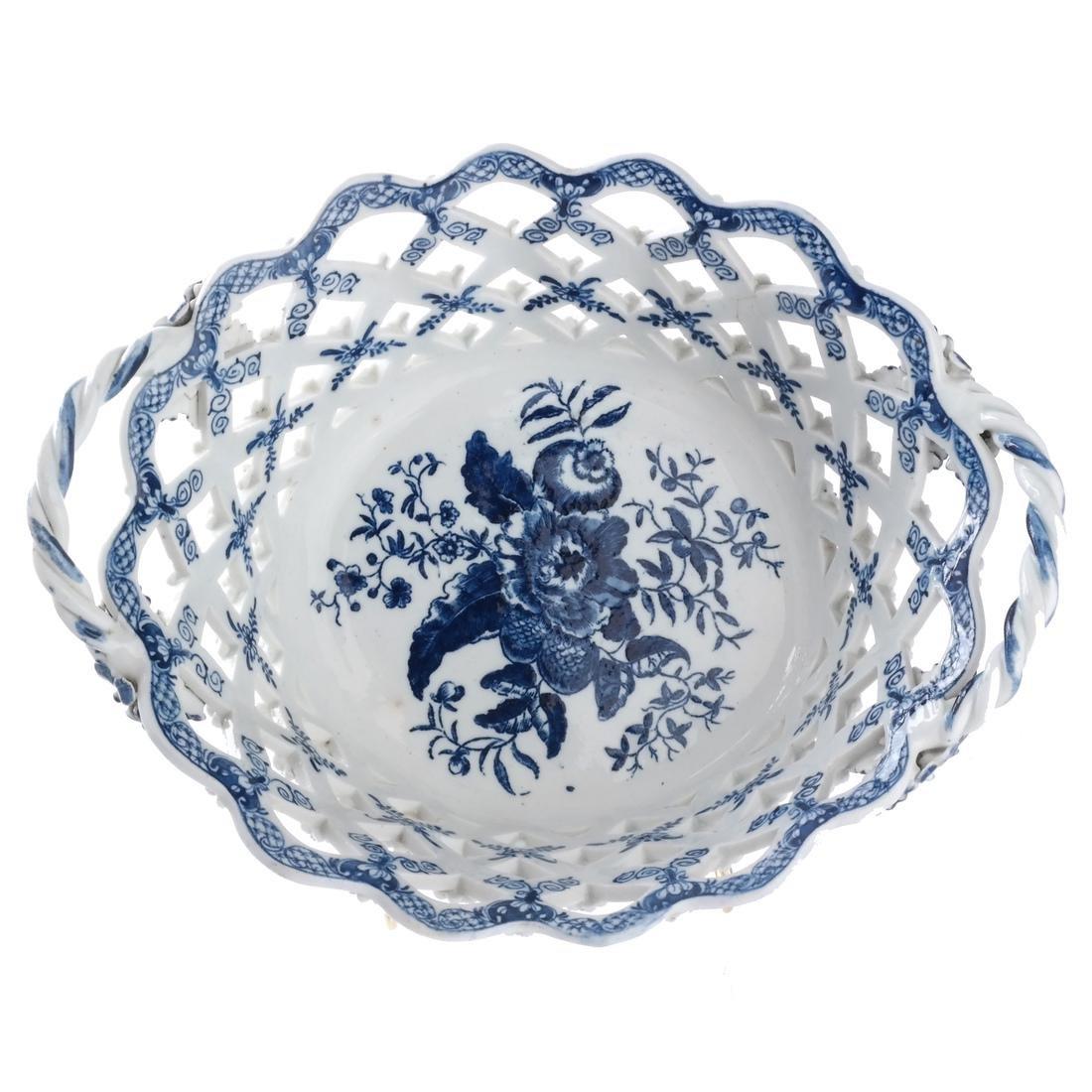 Two 18th C. English Porcelain Baskets - 2
