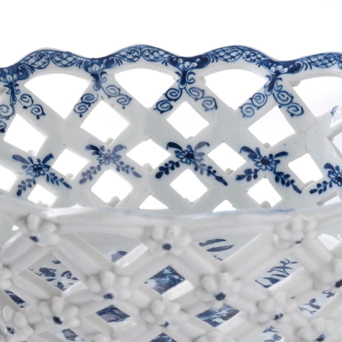 Two 18th C. English Porcelain Baskets - 4