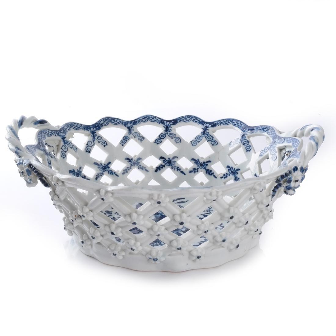 Two 18th C. English Porcelain Baskets - 5