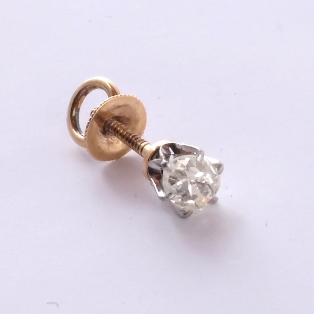 14k Pear Shaped Diamond Stud