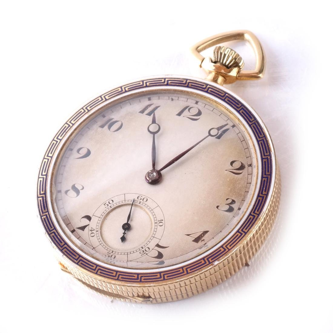18k Pocket Watch, Open-Face