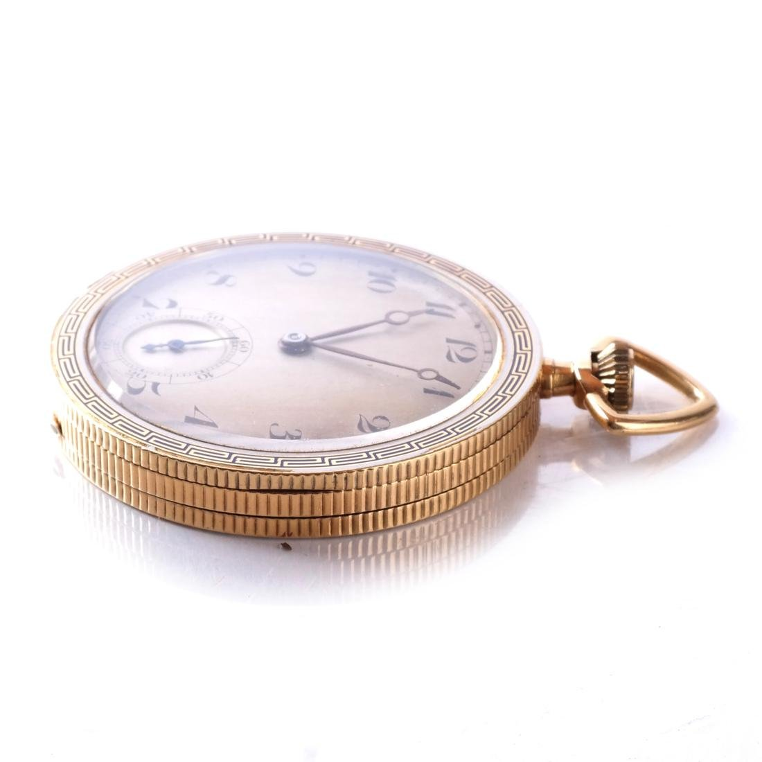 18k Pocket Watch, Open-Face - 3