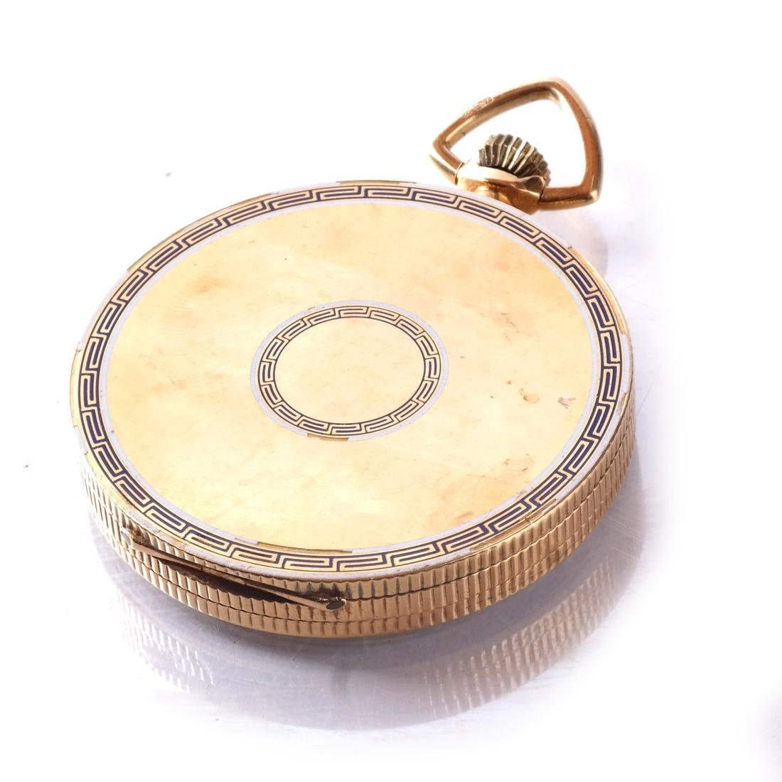 18k Pocket Watch, Open-Face - 4