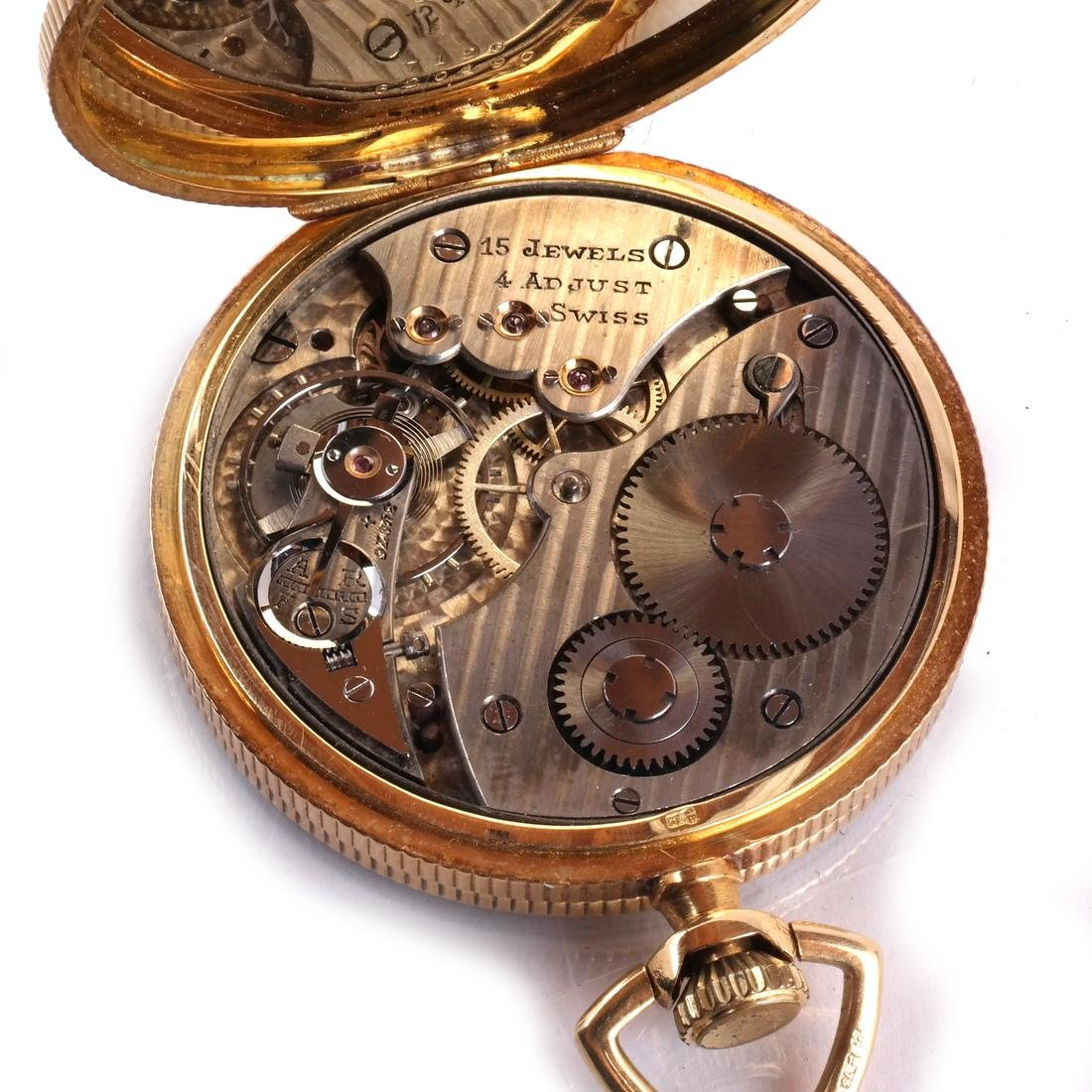 18k Pocket Watch, Open-Face - 6