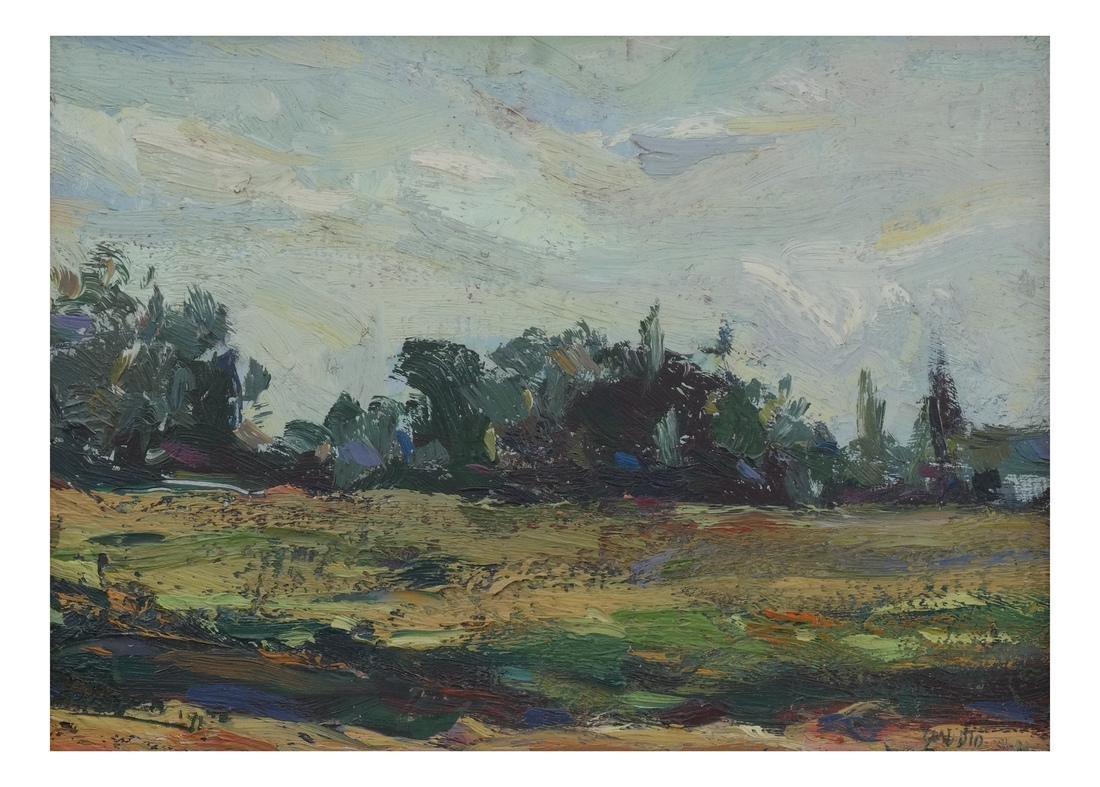 Framed Landscape Oil on Board