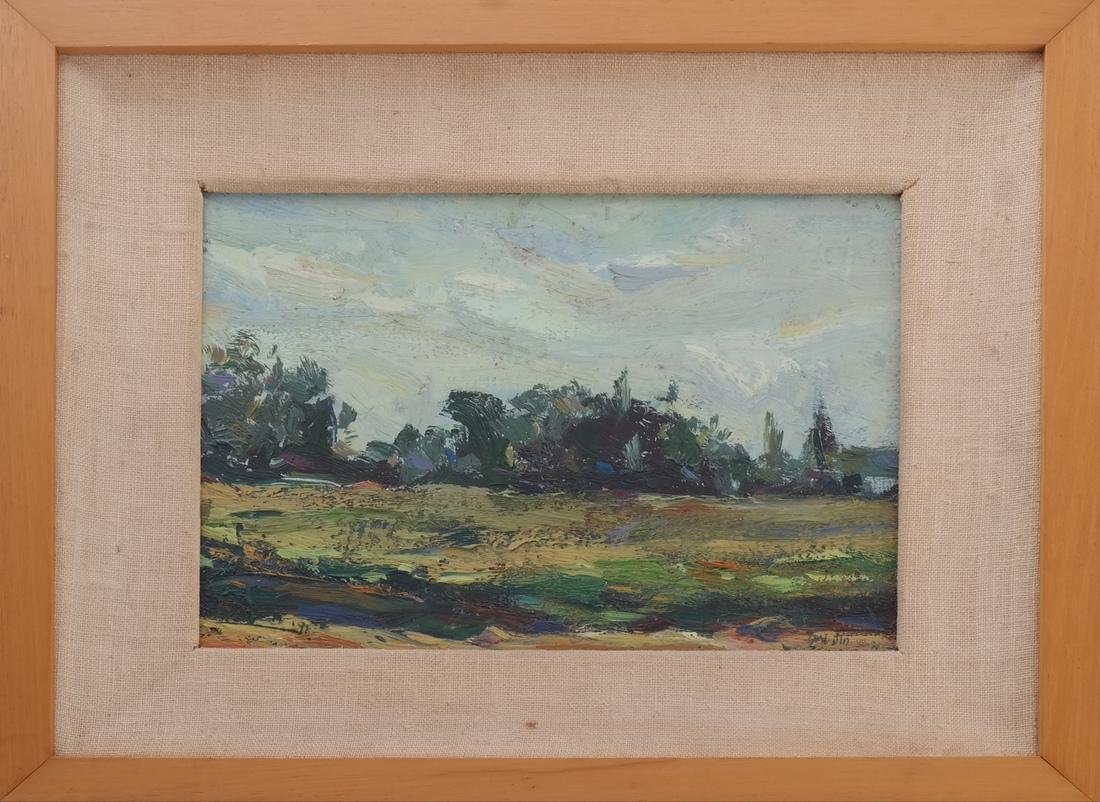 Framed Landscape Oil on Board - 2