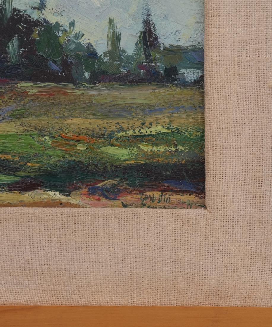 Framed Landscape Oil on Board - 3