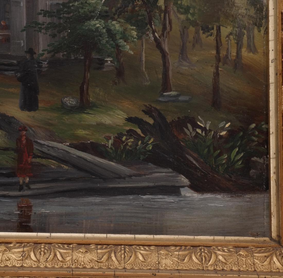 Figural Lake/Landscape, Oil on Carton - 3