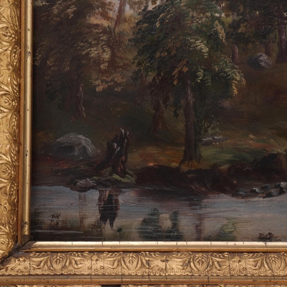 Figural Lake/Landscape, Oil on Carton - 4