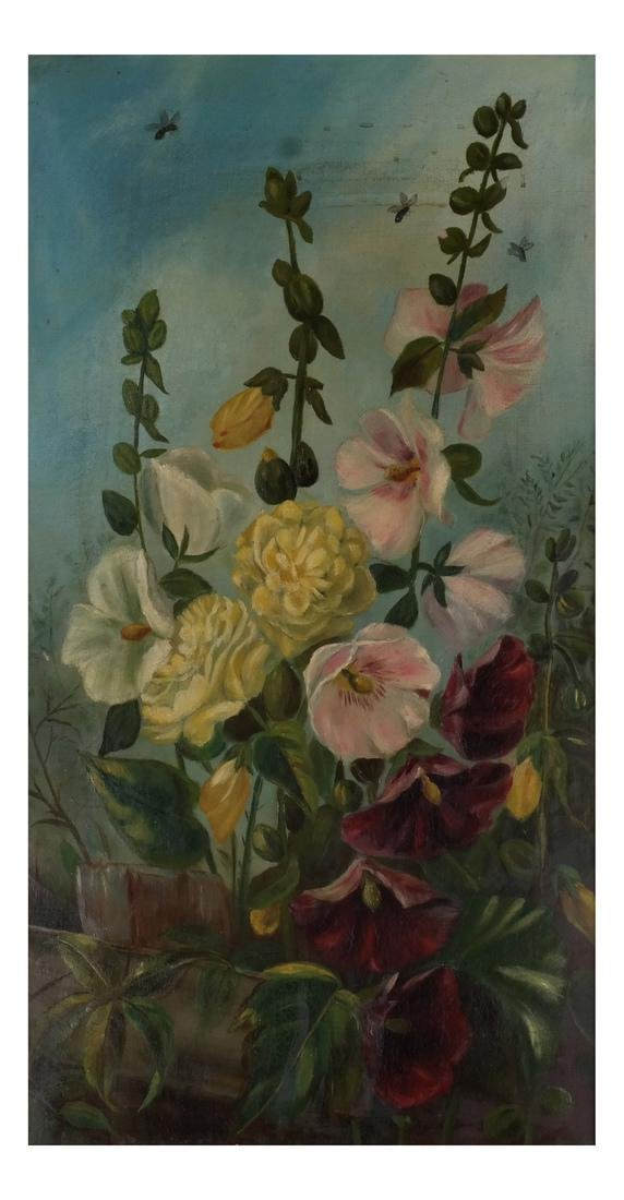Pair of Floral Still Lifes, Oils on Canvas - 2