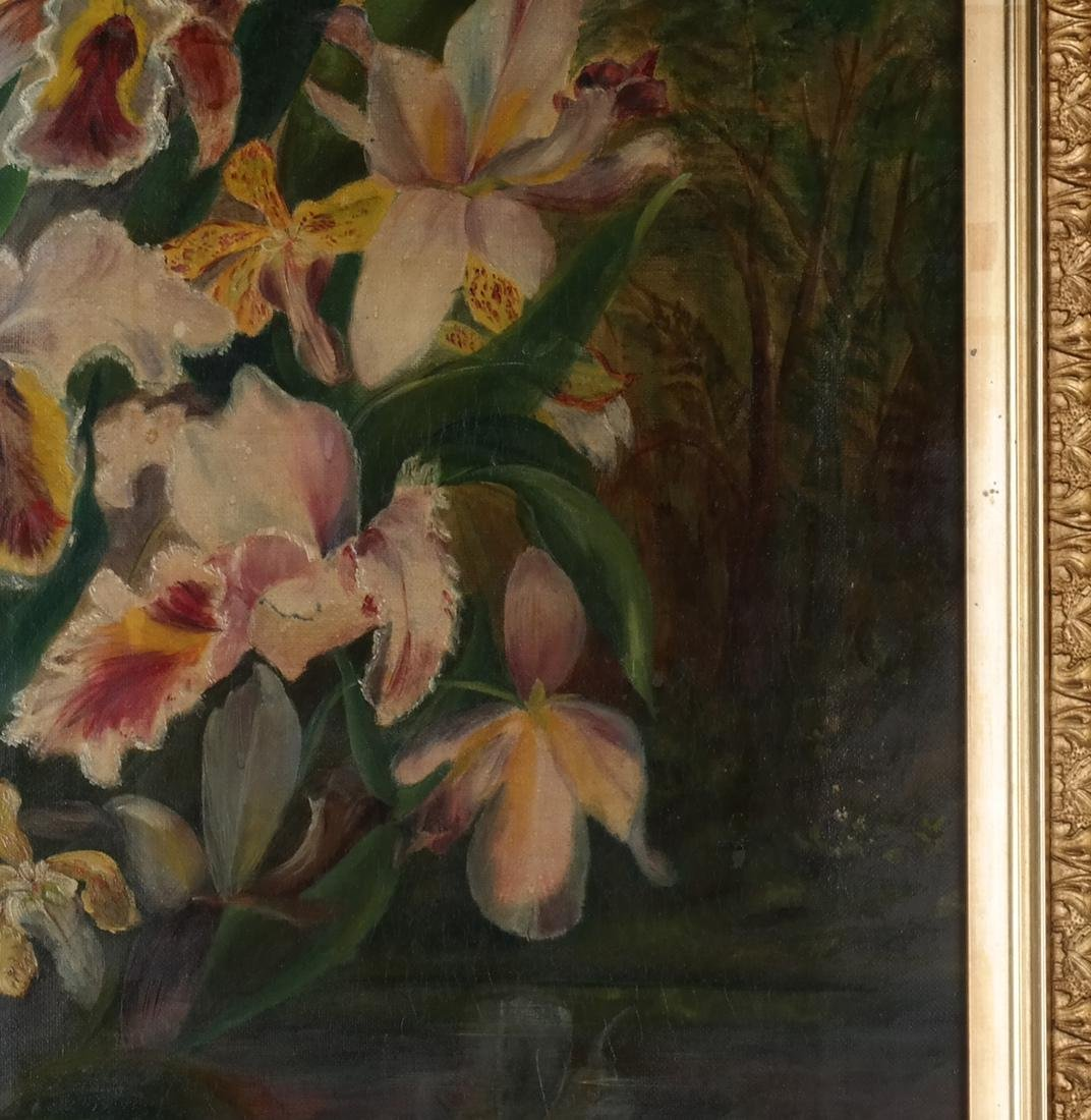 Pair of Floral Still Lifes, Oils on Canvas - 6