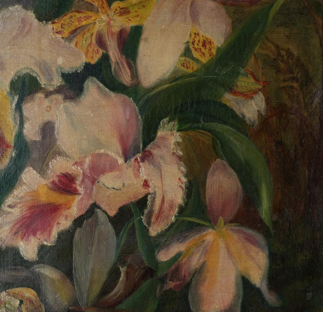 Pair of Floral Still Lifes, Oils on Canvas - 7