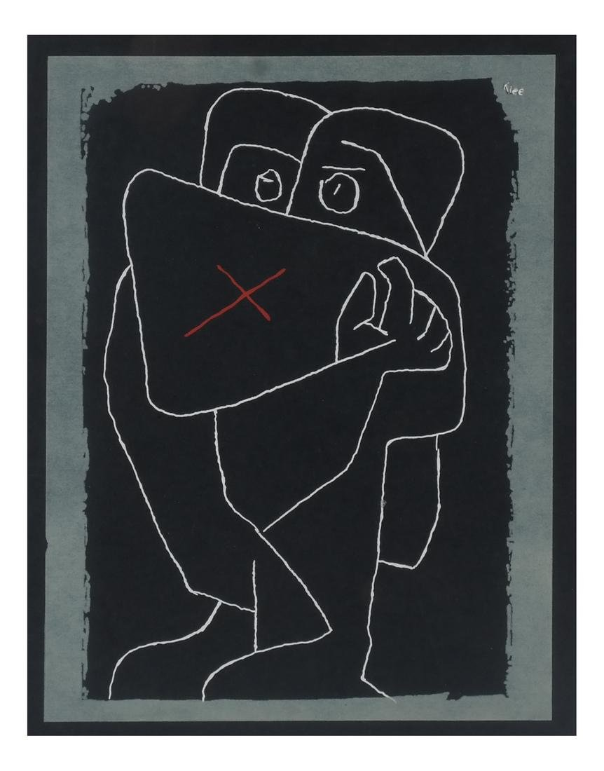"Paul Klee ""The Embrace"" Serigraph"
