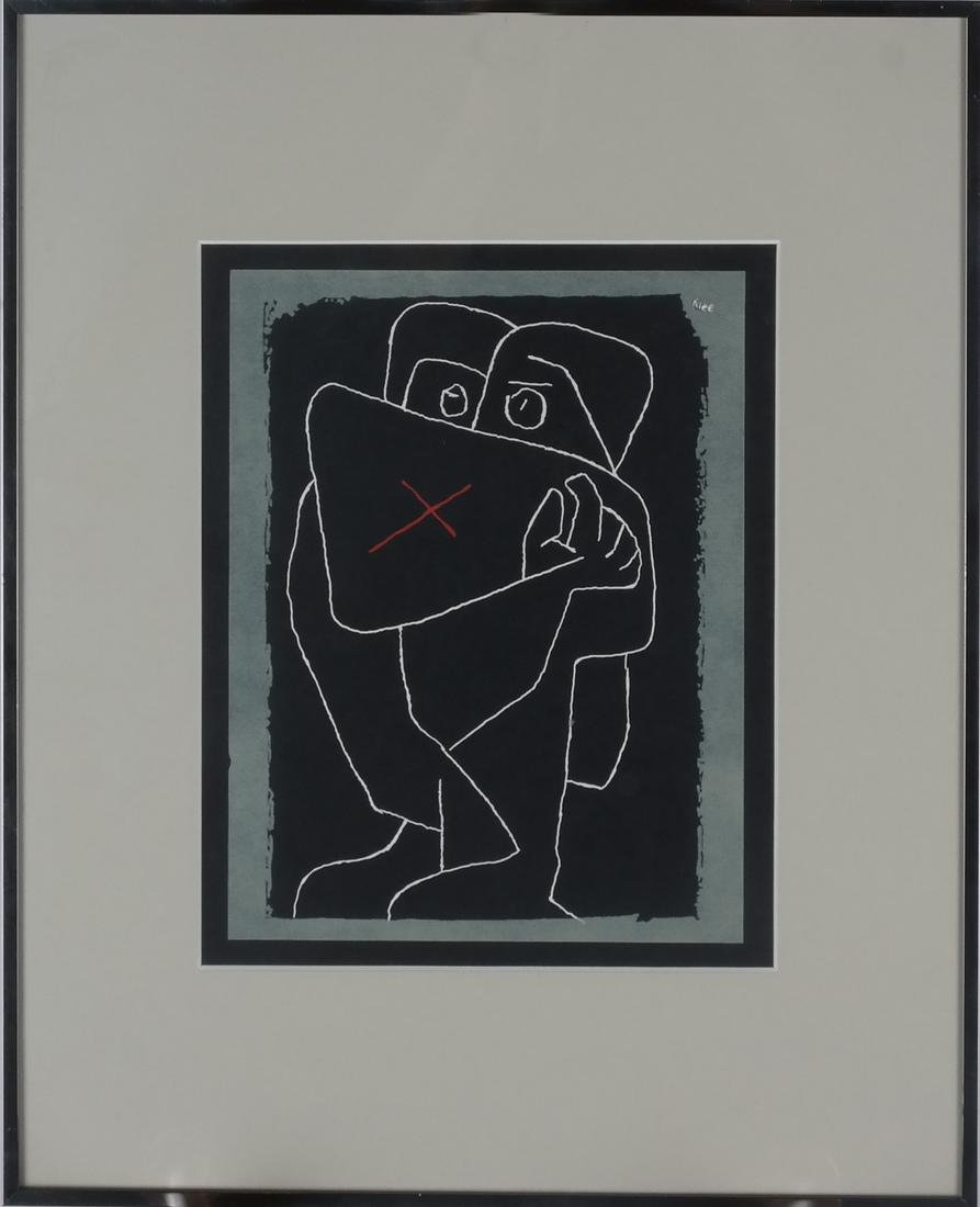 "Paul Klee ""The Embrace"" Serigraph - 2"