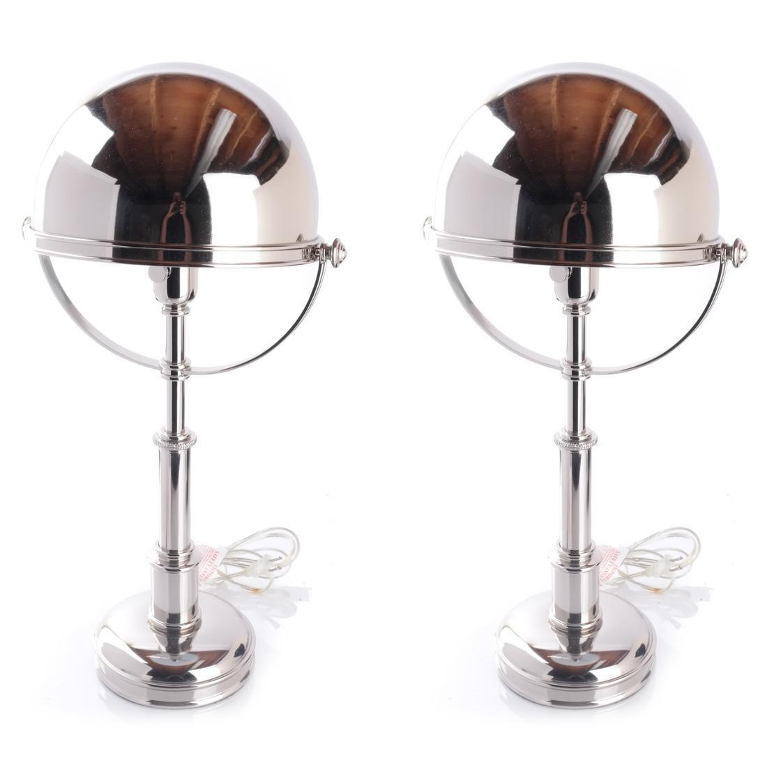 Pair Ralph Lauren Carthage Helmet Lamps