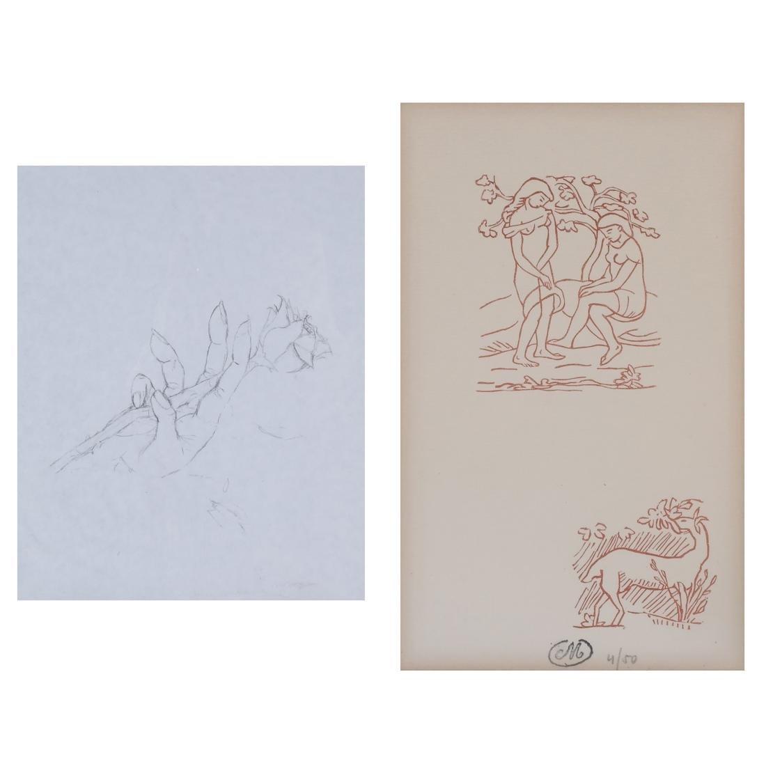 Two Prints: Adam & Eve, Hand