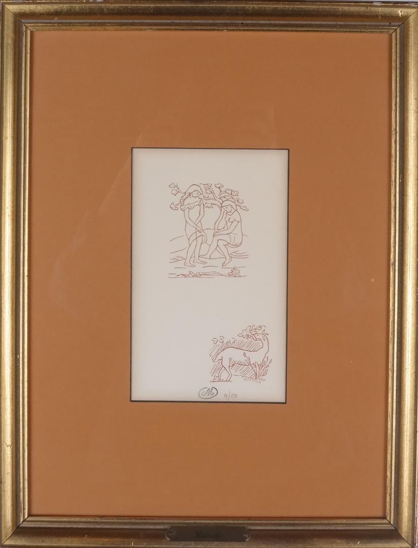 Two Prints: Adam & Eve, Hand - 6