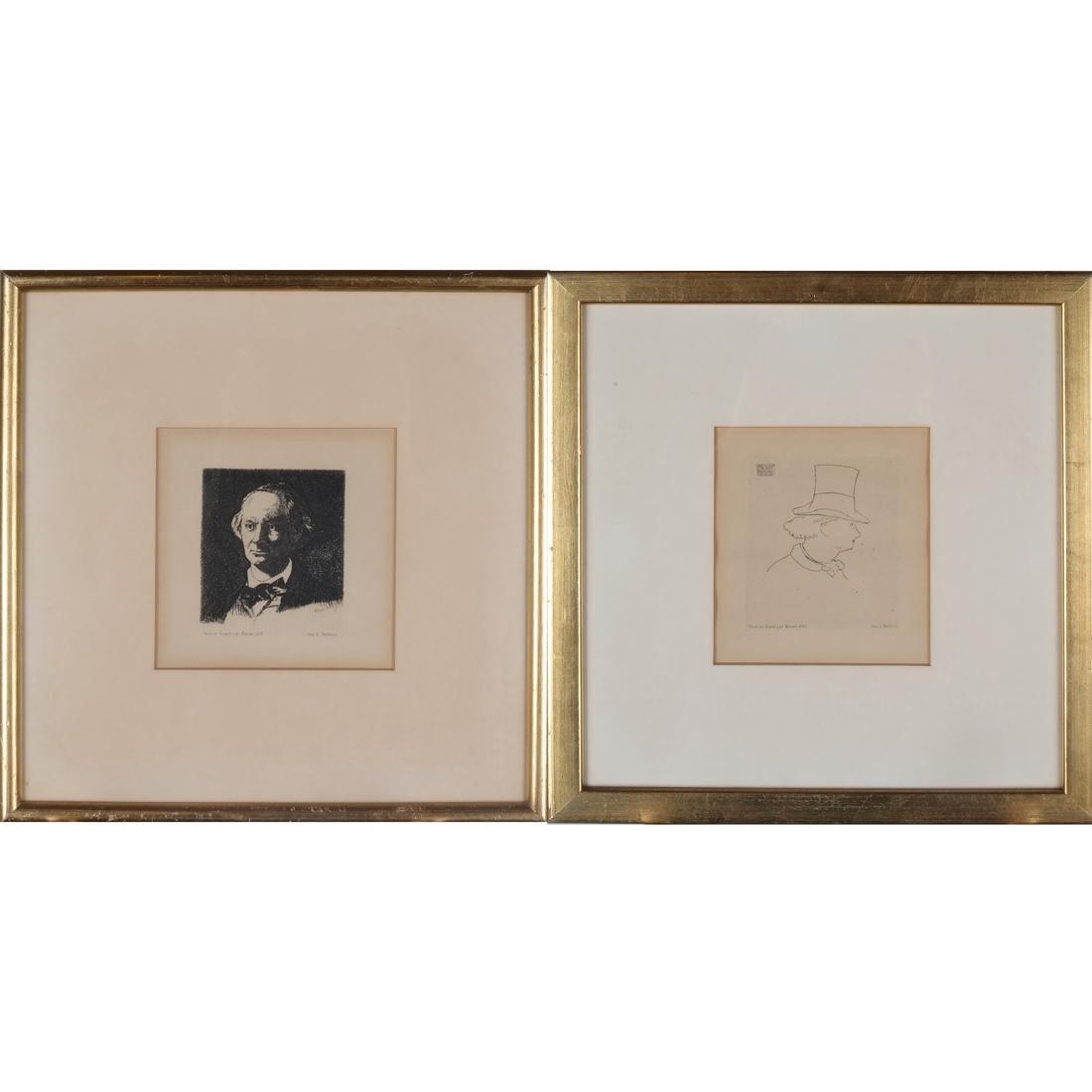 A. Salmon: Two Portrait Prints of Men