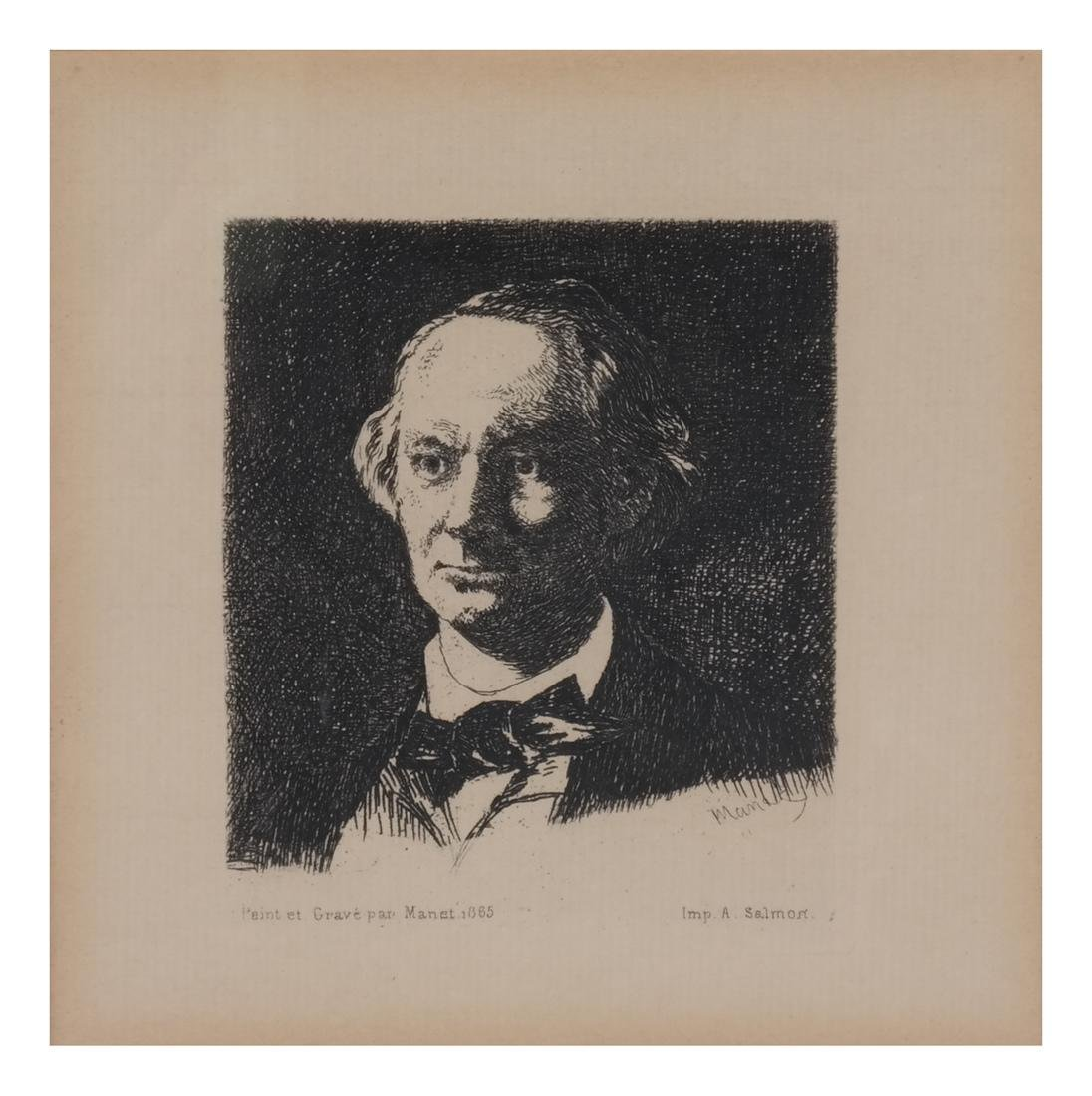 A. Salmon: Two Portrait Prints of Men - 3