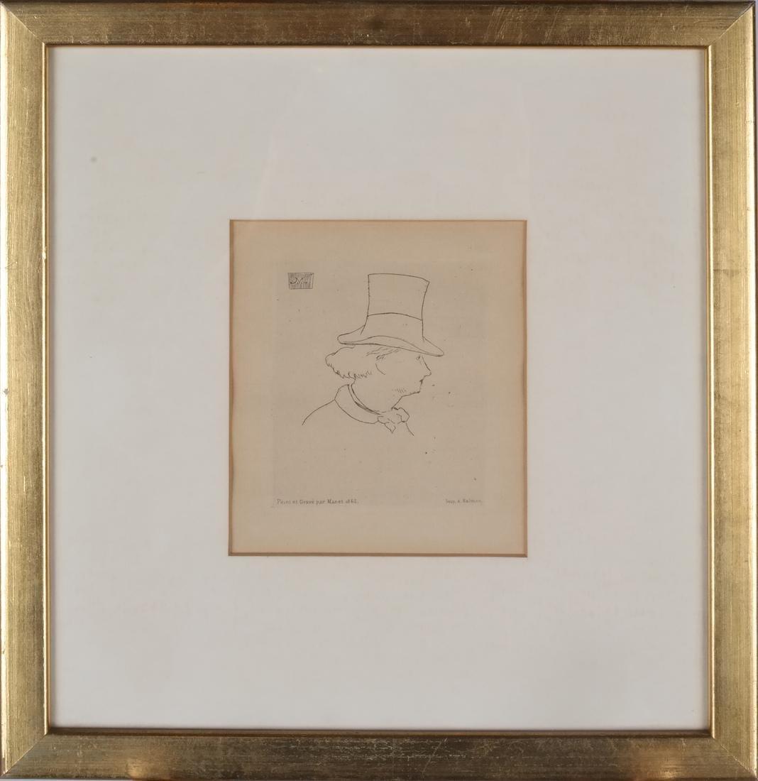 A. Salmon: Two Portrait Prints of Men - 4