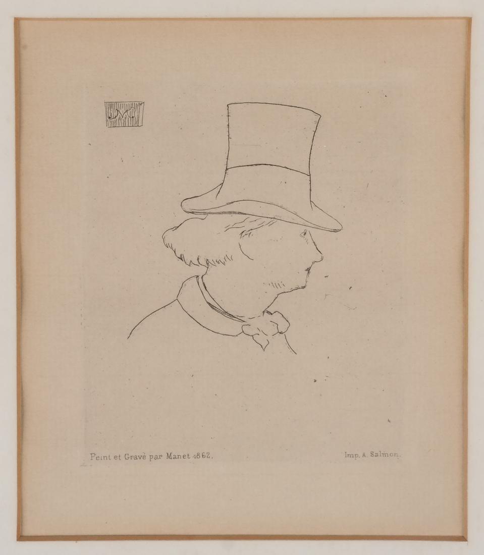 A. Salmon: Two Portrait Prints of Men - 5
