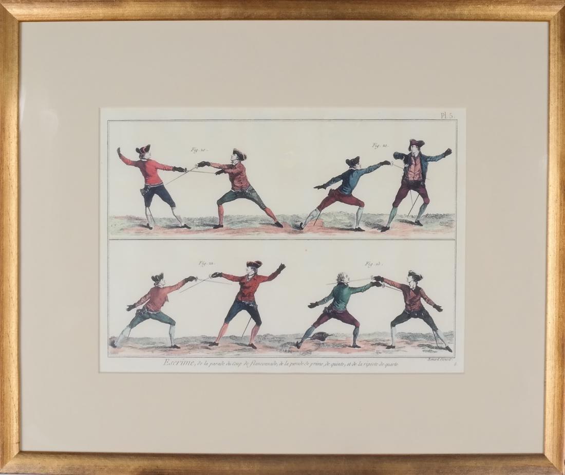 9 Benard Direxit Color Fencing Prints - 2